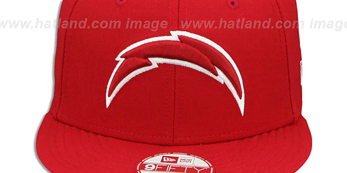 Chargers 'TEAM-BASIC SNAPBACK' Red-White Hat by New Era