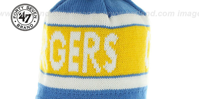 Chargers THROWBACK 'CRANBROOK' Knit Beanie Hat by Twins 47 Brand