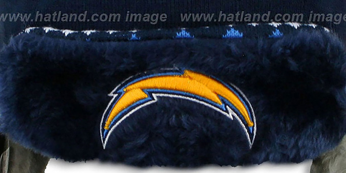 Chargers 'TRAPPER' Navy Knit Hat by New Era
