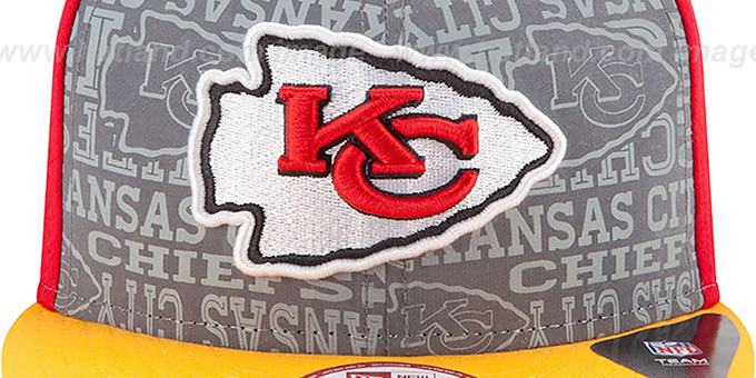 Chiefs '2014 NFL DRAFT SNAPBACK' Red-Gold Hat by New Era