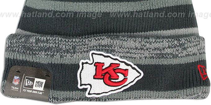 Chiefs '2014 STADIUM' Grey-Grey Knit Beanie Hat by New Era