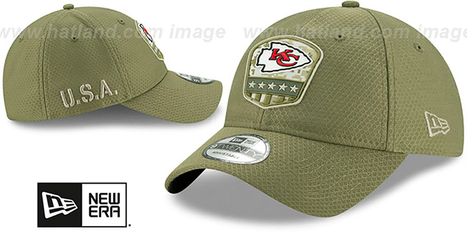 Chiefs '2019 SALUTE-TO-SERVICE STRAPBACK' Olive Hat by New Era