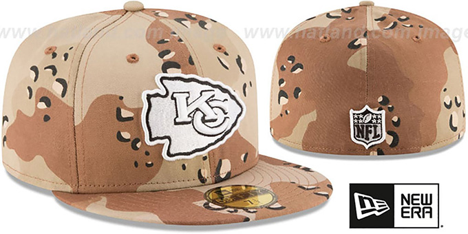 Chiefs 'NFL TEAM-BASIC' Desert Storm Camo Fitted Hat by New Era