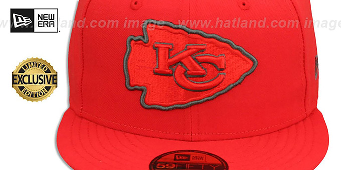 Chiefs 'NFL TEAM-BASIC' Fire Red-Charcoal Fitted Hat by New Era