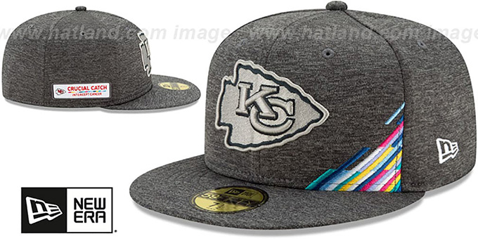 Chiefs 'ONFIELD CRUCIAL CATCH' Grey Fitted Hat by New Era