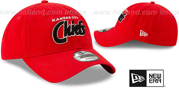 Chiefs 'RETRO-SCRIPT SNAPBACK' Red Hat by New Era