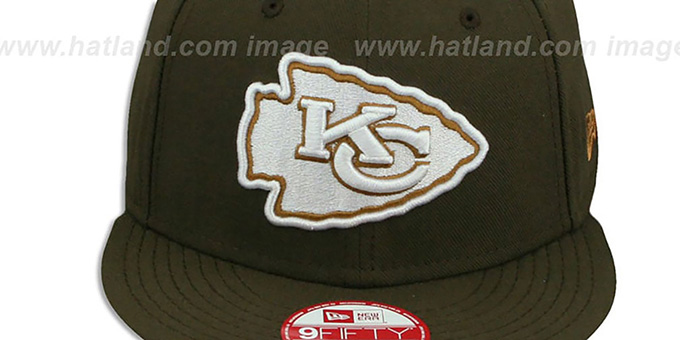 Chiefs 'TEAM-BASIC SNAPBACK' Brown-Wheat Hat by New Era