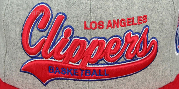 Clippers '2T TAILSWEEPER STRAPBACK' Grey-Red Hat by Mitchell & Ness