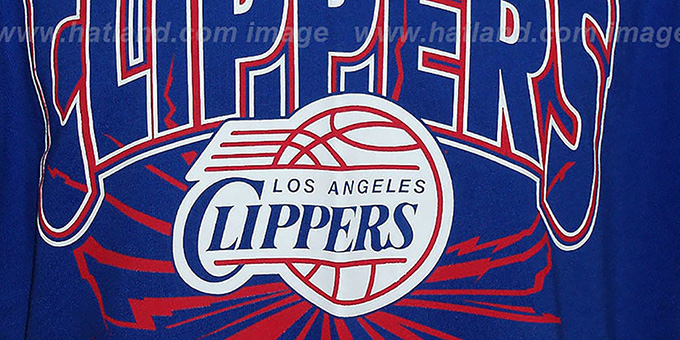 Clippers 'EARTHQUAKE' Royal T-Shirt by Mitchell & Ness