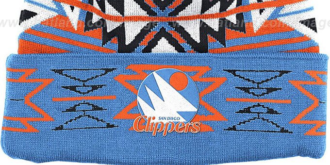 Clippers HWC 'GEOTECH' Knit Beanie by Mitchell and Ness