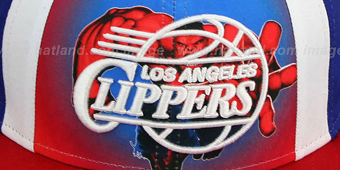 Clippers 'MARVEL RETRO-SLICE SNAPBACK' Royal-Red Hat by New Era