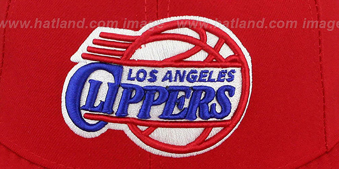 Clippers 'NBA-CHASE' Red Fitted Hat by New Era