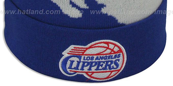 Clippers 'PAINTBRUSH BEANIE' by Mitchell and Ness