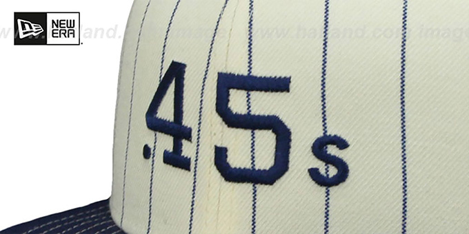 Colt .45s 'VINTAGE-STRIPE' White-Navy Fitted Hat by New Era