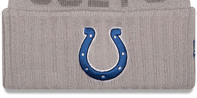 Colts '2015 STADIUM' Grey-Royal Knit Beanie Hat by New Era