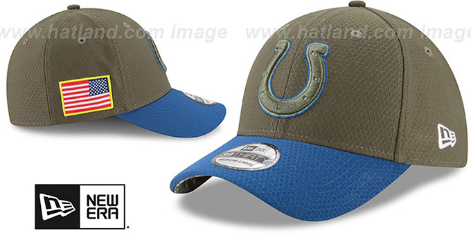 Colts '2017 SALUTE-TO-SERVICE FLEX' Green-Royal Hat by New Era