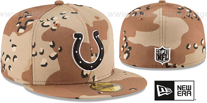 Colts 'NFL TEAM-BASIC' Desert Storm Camo Fitted Hat by New Era