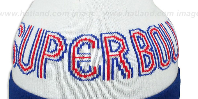 Colts 'SUPER BOWL V' White Knit Beanie Hat by New Era