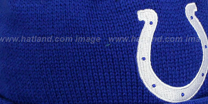 Colts 'XL-LOGO BEANIE' Royal by Mitchell and Ness