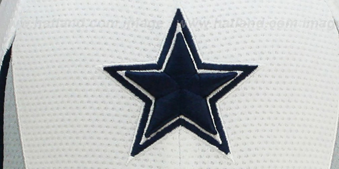 Cowboys '2013 NFL TRAINING FLEX' White Hat by New Era