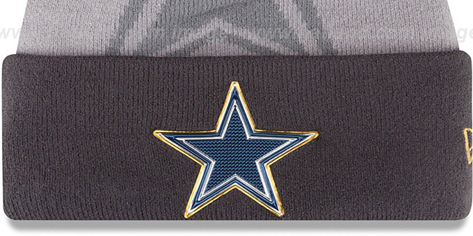 Cowboys '2015 GOLD COLLECTION' Grey-Grey Knit Beanie Hat by New Era
