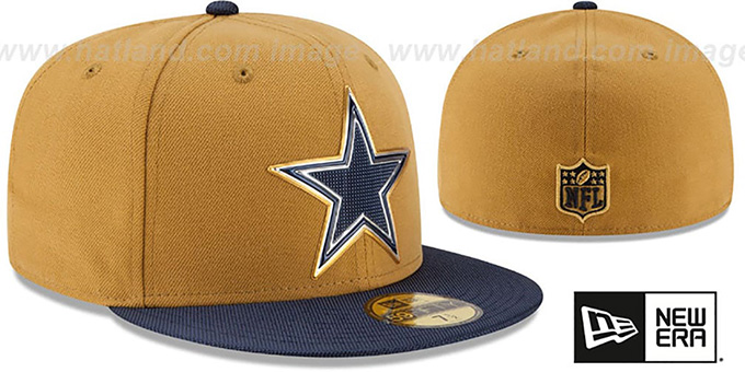 Cowboys '2015 NFL GOLD COLLECTION' Gold-Navy Fitted Hat by New Era