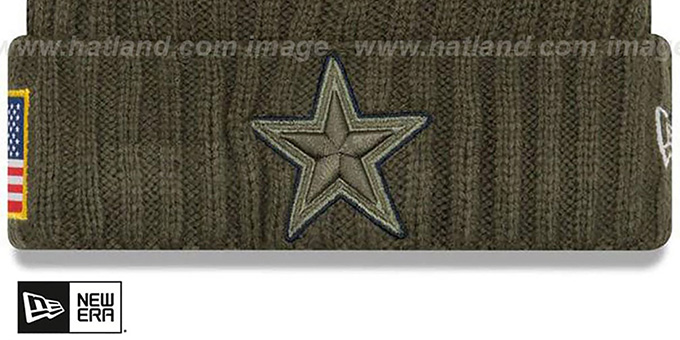 release date c1244 fcb26 ... Cowboys  2017 SALUTE-TO-SERVICE  Knit Beanie Hat by New Era ...