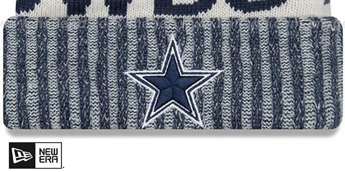 Cowboys '2017 STADIUM BEANIE' Navy Knit Hat by New Era