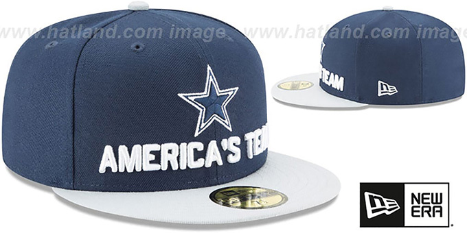 Cowboys '2018 SPOTLIGHT' Navy-Grey Fitted Hat by New Era