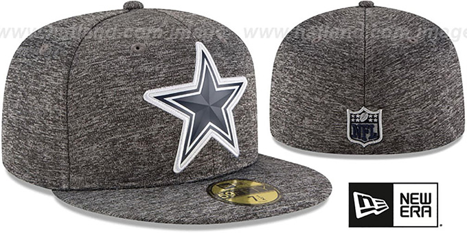 Cowboys 'BEVEL' Heather Grey Fitted Hat by New Era