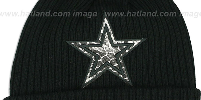 Cowboys 'CHILLER FILLER BEANIE' Black-Grey by New Era