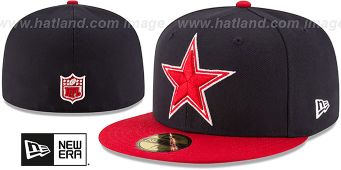 Cowboys 'COUNTRY COLORS' Navy-Red Fitted Hat by New Era