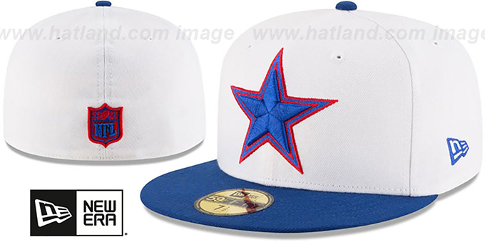 Cowboys 'COUNTRY COLORS' White-Royal Fitted Hat by New Era