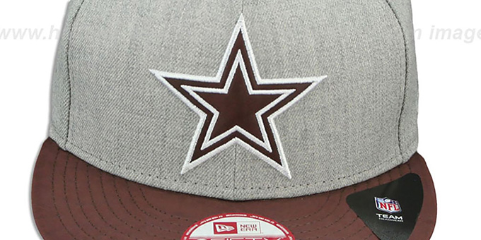 Cowboys 'EMBOSSER STRAPBACK' Grey-Brown Hat by New Era