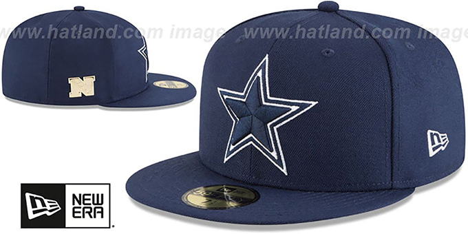 Cowboys 'GILDED TURN' Navy Fitted Hat by New Era