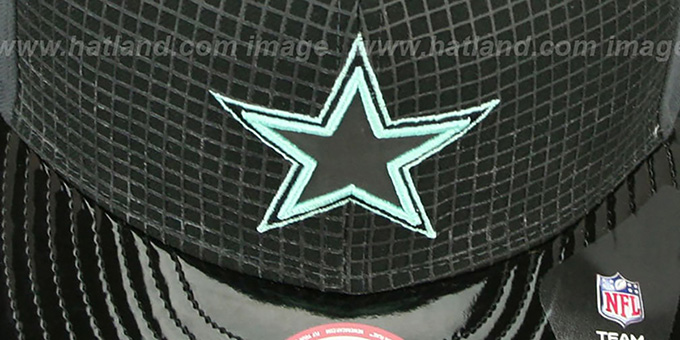 Cowboys 'GREEN-GLOW SNAPBACK' Black-Charcoal Hat by New Era