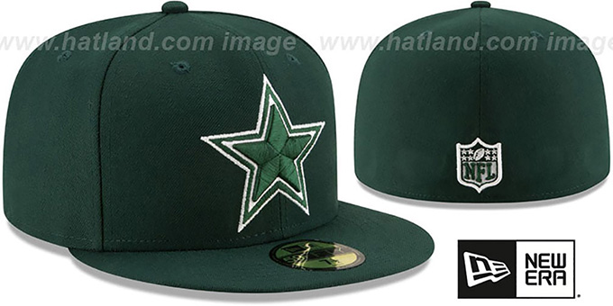 Cowboys 'LEAGUE BASIC' Green Fitted Hat by New Era