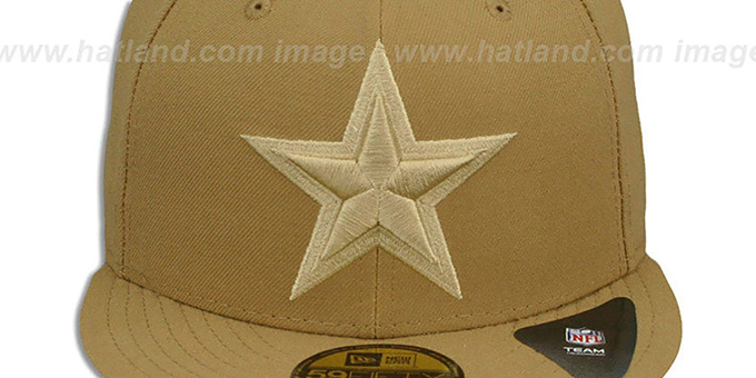 Cowboys 'LEAGUE BASIC TONAL' Wheat Fitted Hat by New Era
