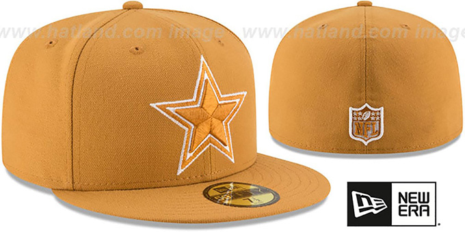 Cowboys 'LEAGUE BASIC TONAL' Panama Tan Fitted Hat by New Era