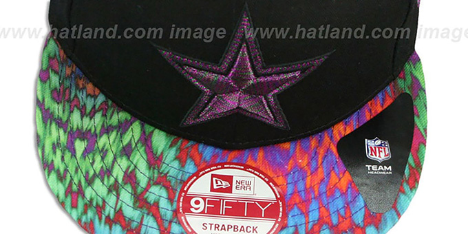Cowboys 'MULTI FYERA STRAPBACK' Black Hat by New Era