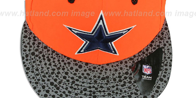 Cowboys 'NEON REFLECT HOOK SNAPBACK' Orange Hat by New Era