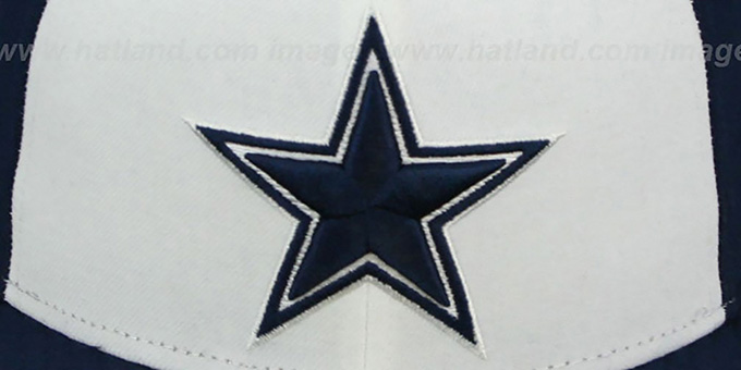 Cowboys 'NFL STADIUM STAR' White-Navy Fitted Hat by New Era