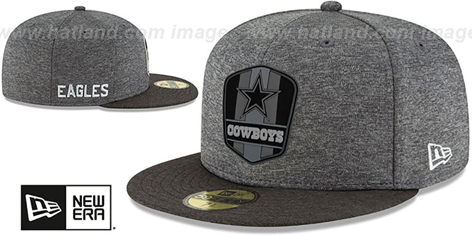 Cowboys 'ROAD ONFIELD STADIUM' Charcoal-Black Fitted Hat by New Era