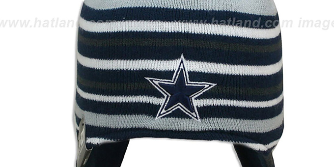 Cowboys 'ROARING FAN' Knit Beanie Hat by New Era