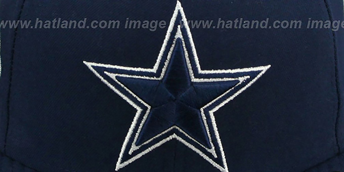 Cowboys 'SIDE TEAM-PATCH' Navy Fitted Hat by New Era