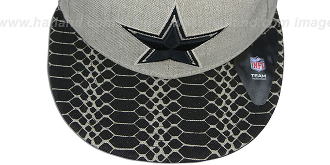 Cowboys 'SNAKE ANI-VIZE' Oatmeal-Black Fitted Hat by New Era