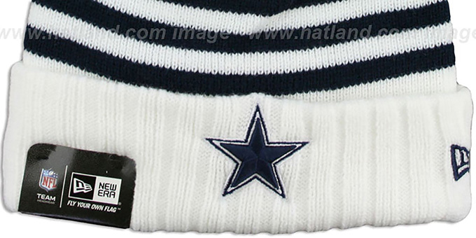 Cowboys 'SNOWFALL STRIPE' Knit Beanie Hat by New Era