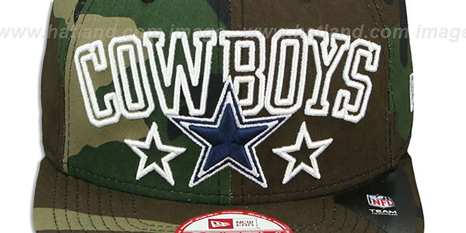 Cowboys 'STAR-UP CITY SNAPBACK' Army Hat by New Era