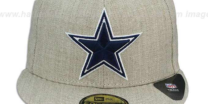 Cowboys 'STREAMLINER' Oatmeal Fitted Hat by New Era
