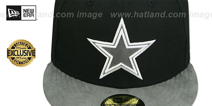 Cowboys 'TONAL-CHOICE' Black Fitted Hat by New Era